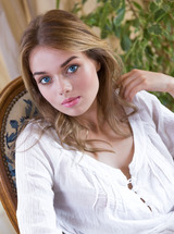 Cute Belarusian Blonde Keira Blue