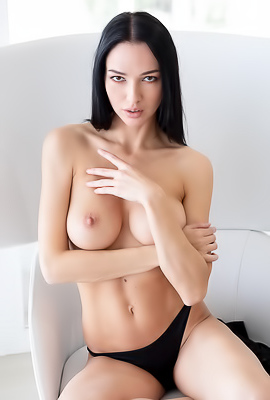 /Stunning Brunette Anastasya Reveals Boobs
