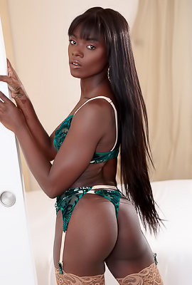 /Ana Foxx Stripped Down To Her Stockings