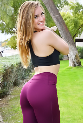 /Kenzie FTV Kenzie FTV performs striptease on an outdoor workout